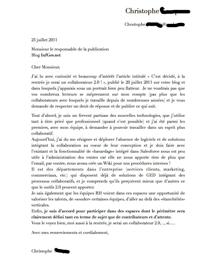 lettre de collaboration commerciale
