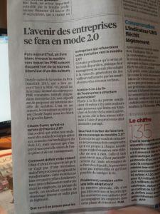 Presse romande : paged éco de 24 heures