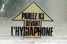 Parlez dans l'hygiaphone